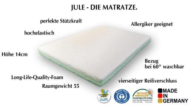 Kaltschaum Matratze Jule.