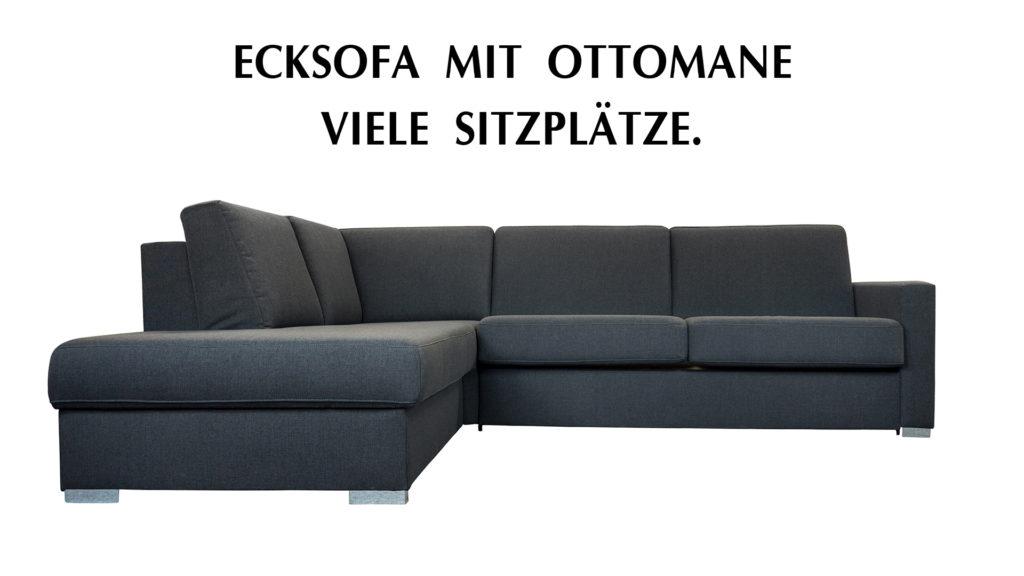 Ecksofa als Dauerschlaefer.