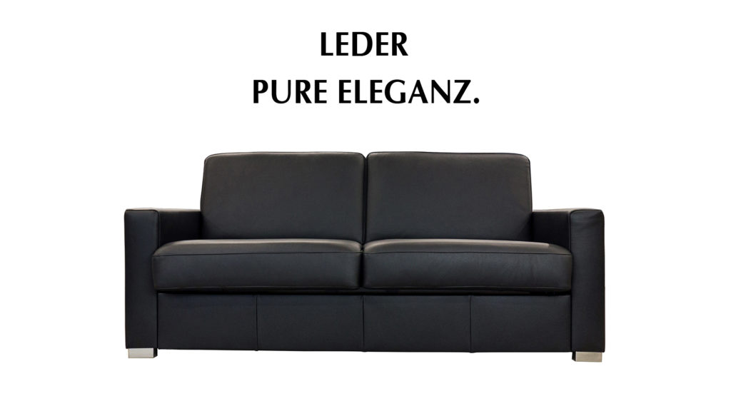 Bettsofa in Leder.