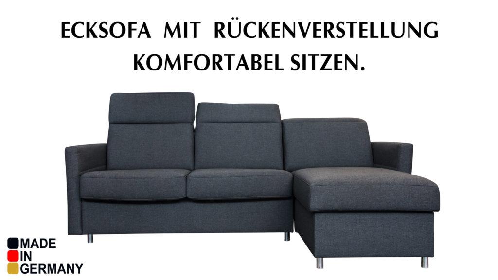 Grosser Bettkasten und Matratze im Bettsofa.