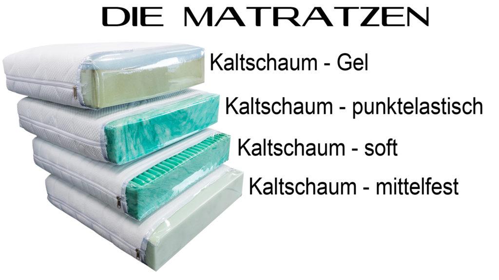 Kaltschaum Matratzen fuer Bettsofas.