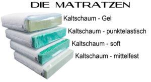 Kaltschaum Matratzen.