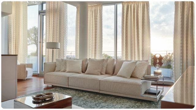 White Lounge Stoffe von JAB.